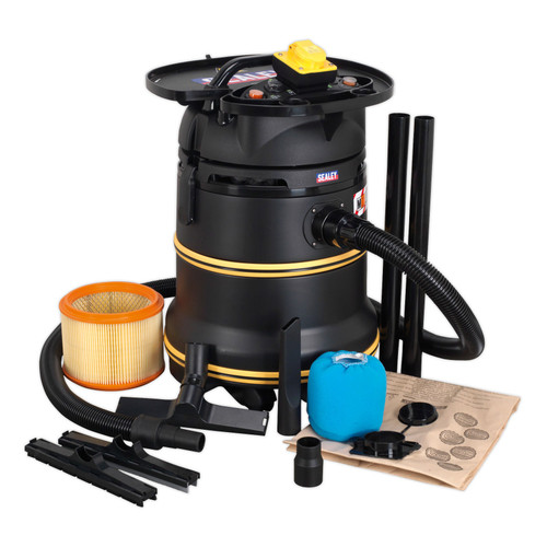 Buy Sealey PC35110V Wet & Dry Vacuum 35ltr 1200W M Class 110V at Toolstop