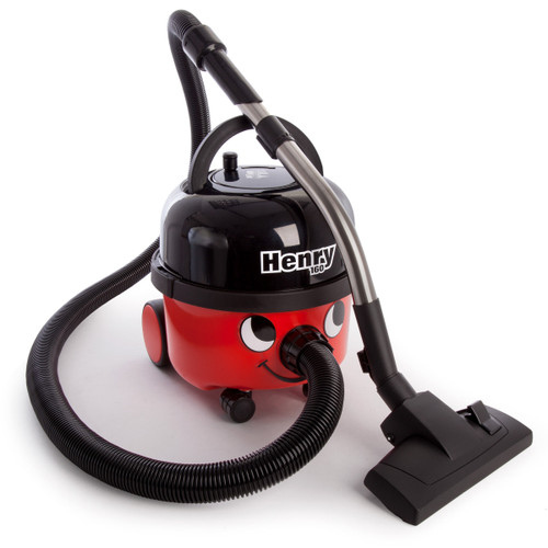 Numatic Henry HVR160 Compact Bagged Cylinder Vacuum Cleaner in Red / Black 110V