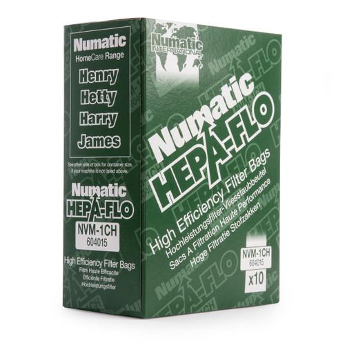 Numatic NVM-1CH 604015 HEPA-FLO High Efficiency Filter Bags (Pack of 10) - 1