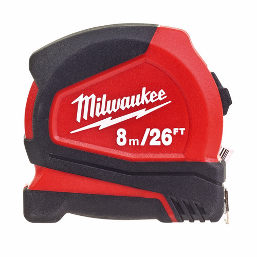Milwaukee 4932459596 Pro Compact Tape Measure 8m / 26ft - 2