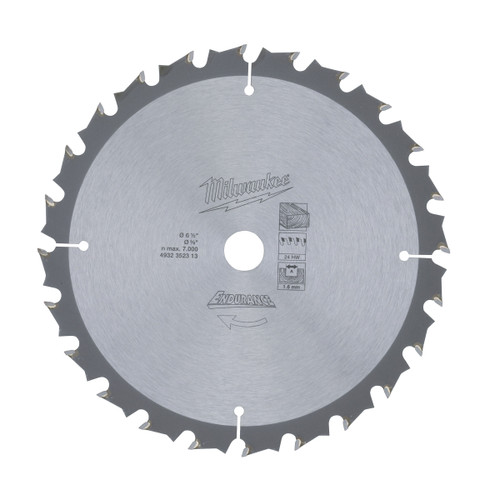 Milwaukee 4932352313 Circular Saw Blade 165mm x 15.8mm x 24T - 1