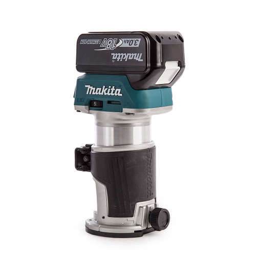 Makita DRT50 18V Cordless Router/Trimmer with DC18RC Charger in Makpac Case (2 x 3.0Ah Batteries) - 2
