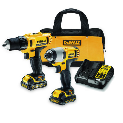 Dewalt DCK211C2 10.8V Cordless li-ion Subcompact Drill Driver and Impact Driver Twin Pack (2 x 1.3Ah Batteries) - 4
