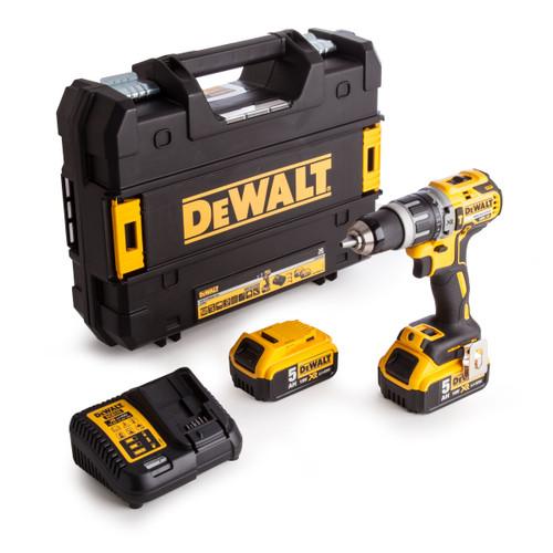 Buy Dewalt DCD796P2 18V XR Brushless Compact Combi Drill (2 x 5.0Ah Batteries) at Toolstop
