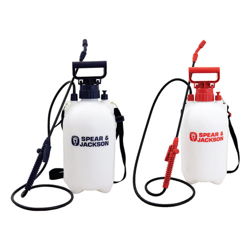 Buy Spear & Jackson 5LPAPSTWIN 5 Litre Pump Action Pressure Sprayer Twin Pack at Toolstop