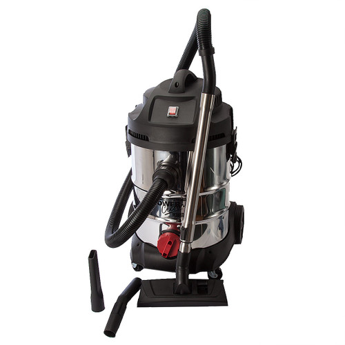 Sealey PC300SD Vacuum Cleaner Industrial Wet and Dry 30ltr 1400w/240V Stainless Bin