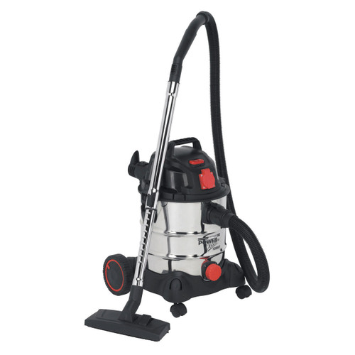 Buy Sealey PC200SDAUTO Vacuum Cleaner Industrial 20ltr 1400W/240V Stainless Bin Auto Start at Toolstop