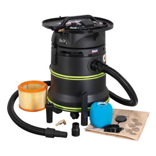 Buy Sealey DFS35M Vacuum Cleaner Industrial Dust-Free Wet & Dry 1000W/240V M Class Filtration Self-Clean Filter & Auto Start at Toolstop