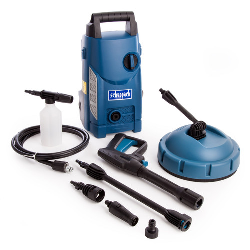 Buy Scheppach HCE1500 High Pressure Washer / Patio Cleaner 1400W 70 Bar 240V for GBP66.67 at Toolstop