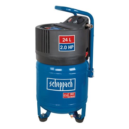 Scheppach HC24V Vertical Air Compressor Oil Free 24 Litre 10 Bar 2.0HP - 2