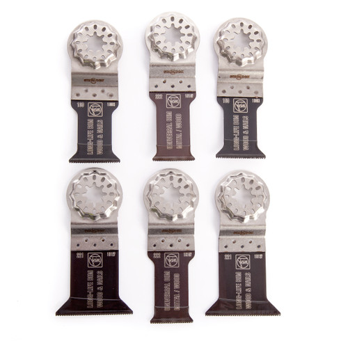 Fein 35222952300 Best of E-Cut Multi-Tool Blades Starlock for Wood & Metal (6 Piece) - 1
