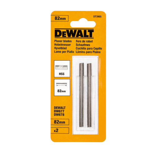 Buy Dewalt DT3905 HSS Planer Blades 82mm (Pack Of 2) at Toolstop