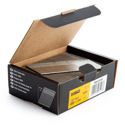 Dewalt DNBA1632-GZ 16GA Brad Finish Nail 20 Deg Galvanised 32mm (Pack of 2500) - 2