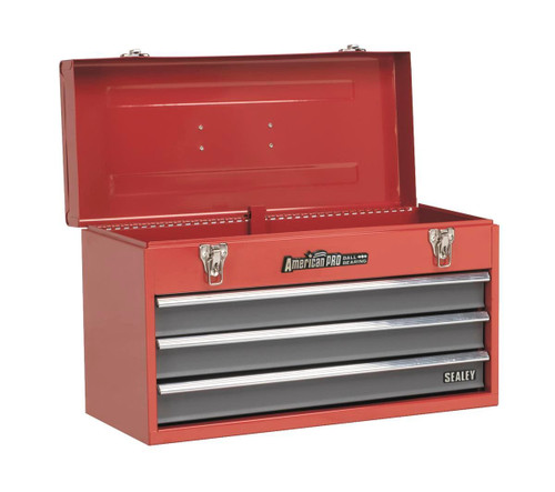 Buy Sealey AP9243BB Tool Chest 3 Drawer Portable With Ball Bearing Runners - Red/grey at Toolstop