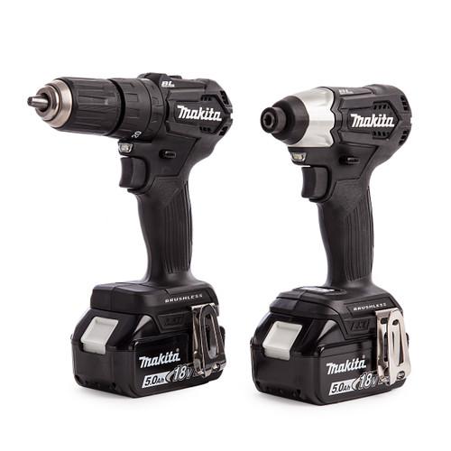 Makita DLX2221BT2 18V DTD155 Impact Driver and DHP483 Combi Drill Twinpack (2 x 5.0Ah Batteries) - 5