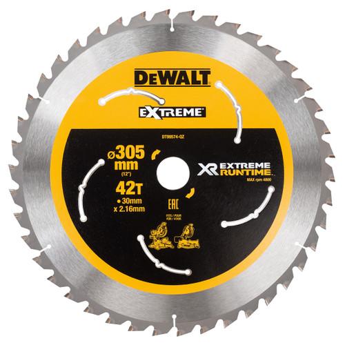 Dewalt DT99574 XR Extreme Runtime Mitre Saw Blade 305mm x 30mm x 42T - 1