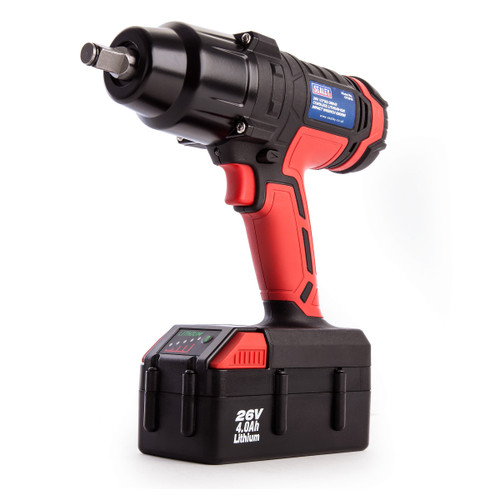 Sealey CP2612 26V Cordless Impact Wrench 680Nm 1/2in Drive (1 x 4.0Ah Battery)
