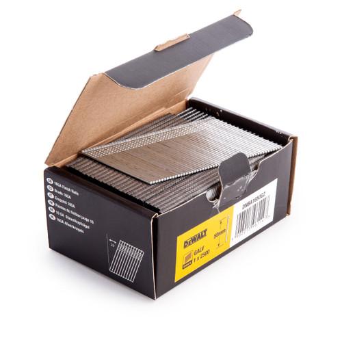 Dewalt DNBA1650-GZ 16GA Brad Finish Nail 20 Deg Galvanised 50mm (Pack of 2500) - 1