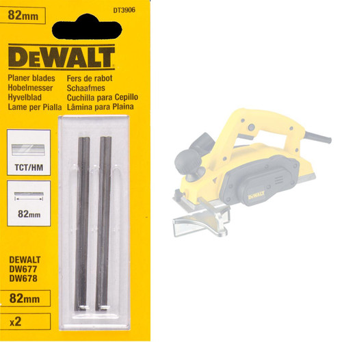 Buy Dewalt DT3906 TCT Planer Blades 82mm (Pack Of 2) at Toolstop