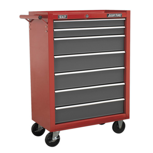 Buy Sealey AP22507BB Rollcab 7 Drawer With Ball Bearing Runners - Red/Grey at Toolstop