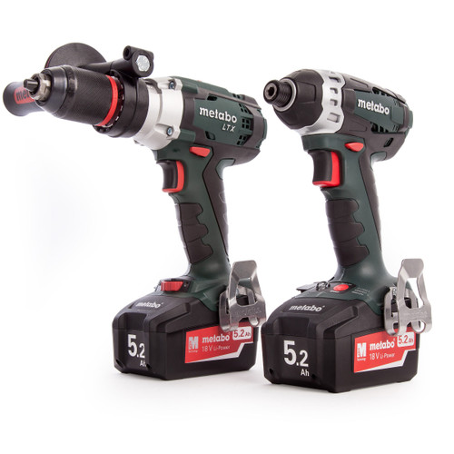 Metabo Combo Set 2.1.5, SB 18 LTX, SSD 18LTX, Charger, Metaloc Carry Case (2 x 5.2Ah Batteries) - 6