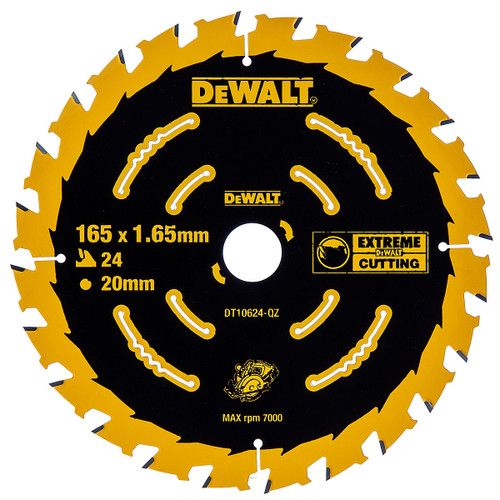 Dewalt DT10624 Extreme Framing Cordless Circular Saw Blade 165mm x 20mm x 24T - 2