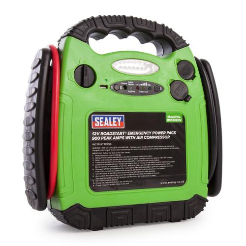 Sealey RS1322HV Roadstart Emergency Power Pack With Air Compressor 12v 900 Peak Amps - 5