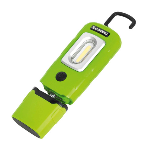 Sealey LED3601G LED Rechargeable Lithium-Polymer Inspection Lamp (Green) - 2
