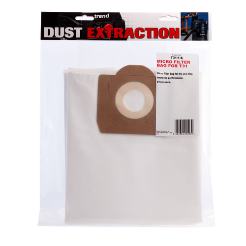 Buy Trend T31/1/A Micro Filter Bag for T31 Dust Extractor at Toolstop