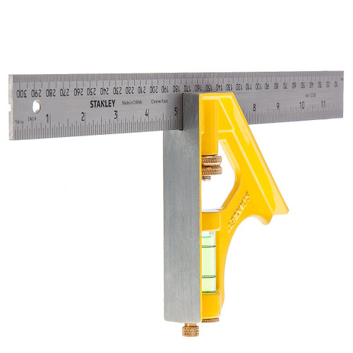 Stanley 2-46-028 Die Cast Combination Square 12in / 300mm - 3
