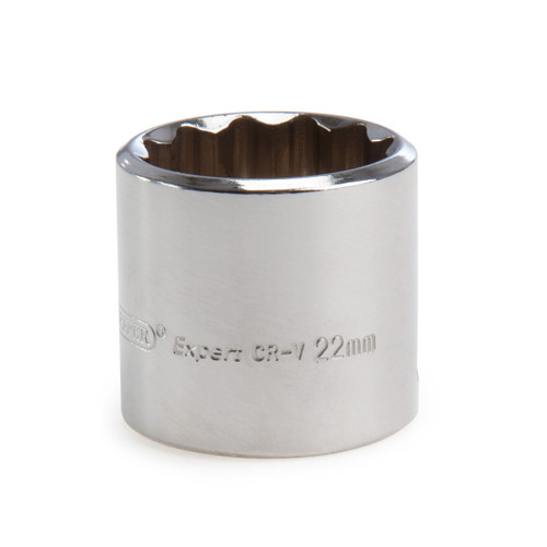 Buy Draper 13242 (D-MMB) Expert 22mm 3/8in Square Drive Hi-torq Bi-hexagon Socket at Toolstop