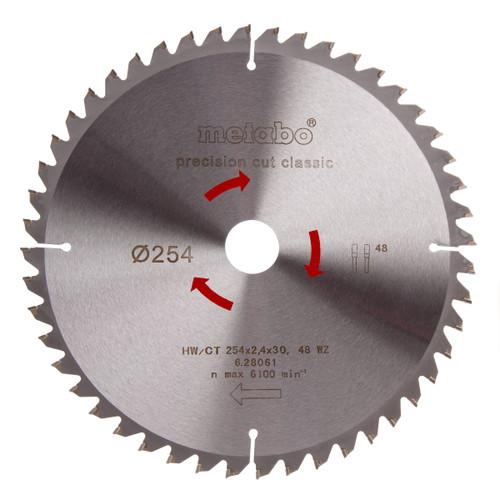 Metabo 6.28061 Circular Saw Blade 254mm x 30mm 48T - 2