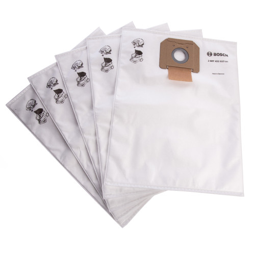 Bosch 2607432037 Fleece filter Bags for GAS 35L (Pack of 5) - 1