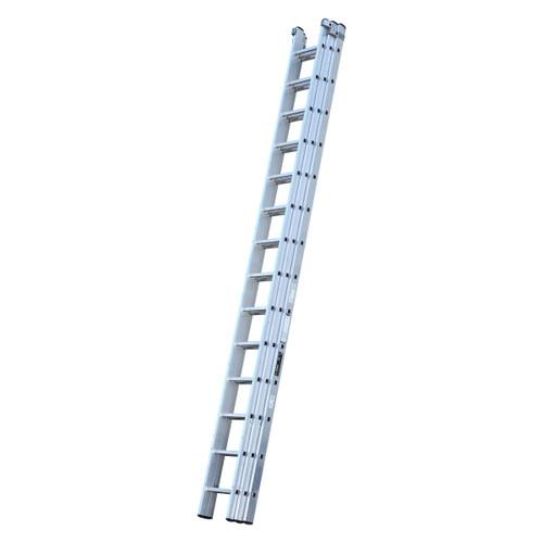 Youngman 570124 Trade 200 3 Section Aluminium Extension Ladder 4.24 - 10.62 Metres - 1