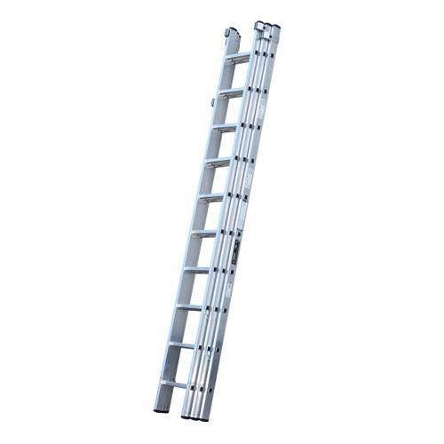 Youngman 570122 Trade 200 3 Section Aluminium Extension Ladder 3.08 - 7.43 Metres - 1