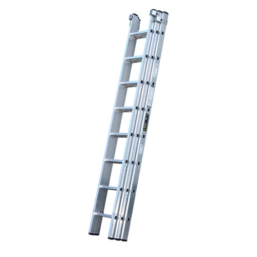 Youngman 570121 Trade 200 3 Section Aluminium Extension Ladder 2.50 - 5.69 Metres - 1