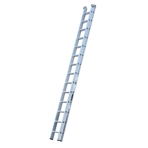 Youngman 570114 Trade 200 2 Section Aluminium Extension Ladder 4.24 - 7.43 Metres - 1