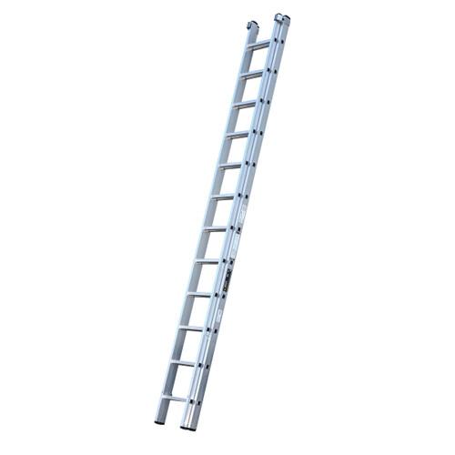 Youngman 570113 Trade 200 2 Section Aluminium Extension Ladder 3.66 - 6.27 Metres - 1