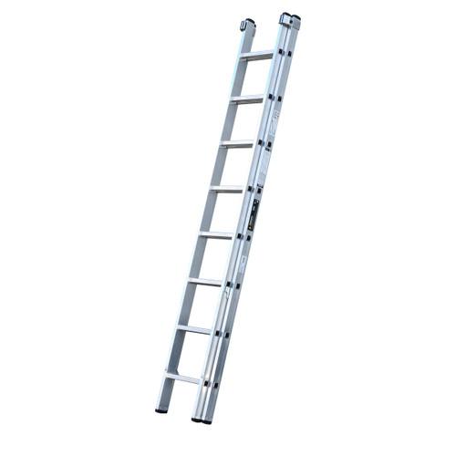 Youngman 570111 Trade 200 2 Section Aluminium Extension Ladder 2.50 - 3.95 Metres - 1