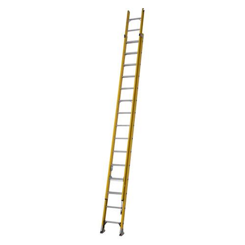 Youngman 527815 S200 Fibreglass Trade 2 Section Extension Ladder 4.48 - 7.96 Metres - 5