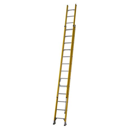 Youngman 527813 S200 Fibreglass Trade 2 Section Extension Ladder 3.90 - 6.80 Metres - 5