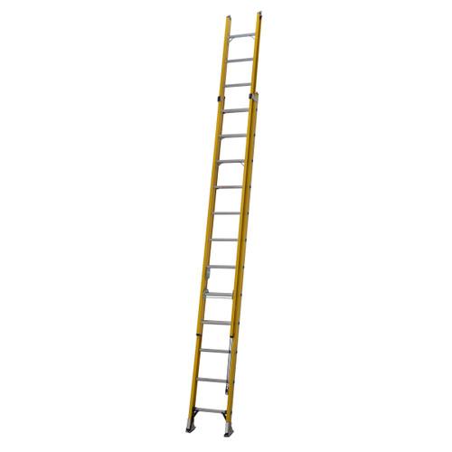 Youngman 527812 S200 Fibreglass Trade 2 Section Extension Ladder 3.61 - 6.22 Metres - 5
