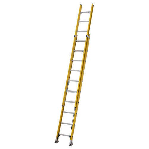 Youngman 527810 S200 Fibreglass Trade 2 Section Extension Ladder 3.03 - 5.06 Metres - 5