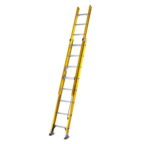 Youngman 527808 S200 Fibreglass Trade 2 Section Extension Ladder 2.45 - 3.90 Metres - 4