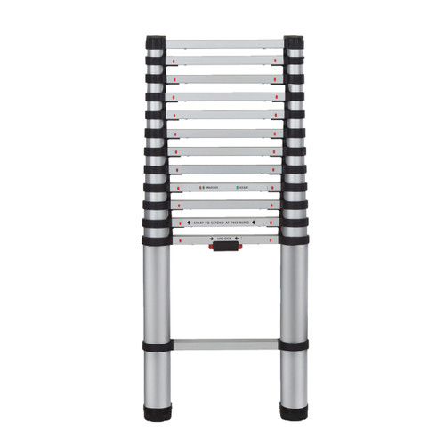 Youngman 30113818 Aluminium Telescopic Extension Ladder (3.8m) - 1