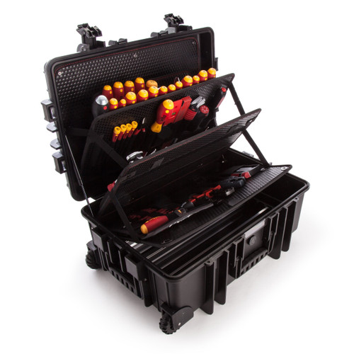 Wiha 40524 Tool Case for Electricians - Competence XXL Kit with 115 Pieces - 8