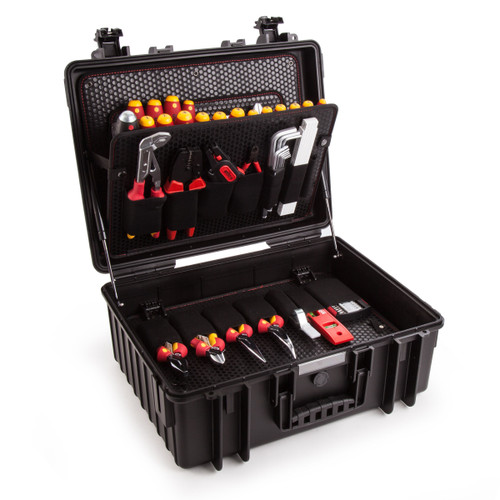 Wiha 40523 Tool Case for Electricians - Competence XL Kit with 80 Pieces - 7