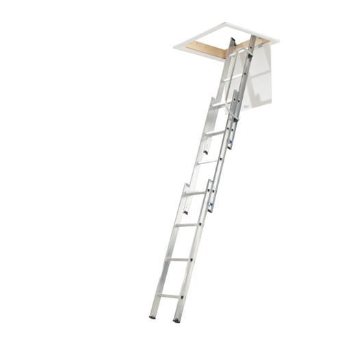 Werner 76003 Loft Ladder With Handrail (3 Section) - 1
