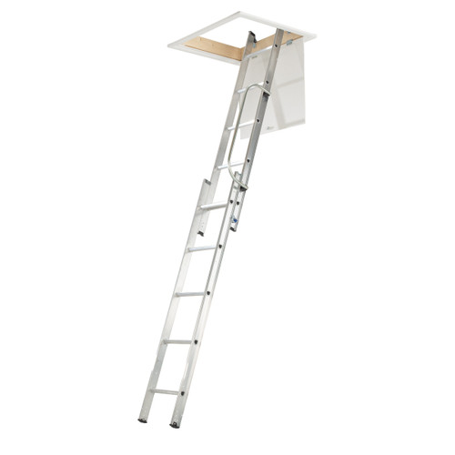 Werner 76002 Loft Ladder With Handrail (2 Section)  - 1