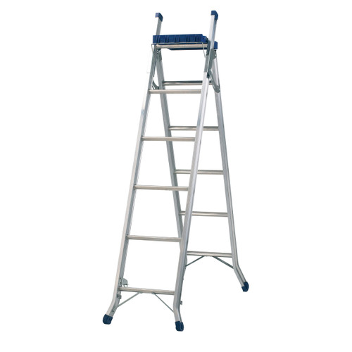 Werner 75013 3 Way Combination Ladder With Work Tray - 2